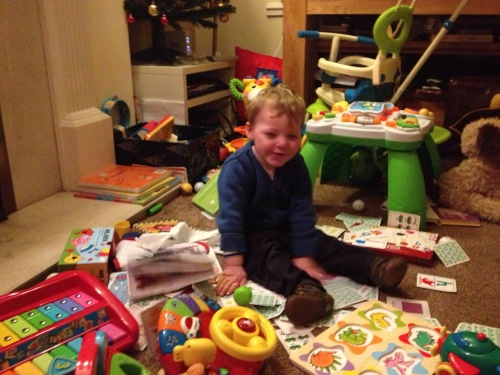 So the house is a mess... F**k it, he's having a blast!