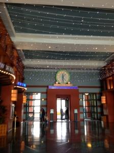 Even the lobby feels like a celebration