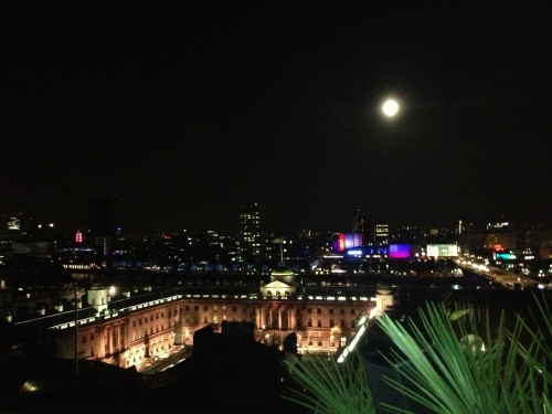 Full moon over London, as seen from Radio at ME Hotel