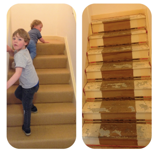 Mummykimmy stairs before and after