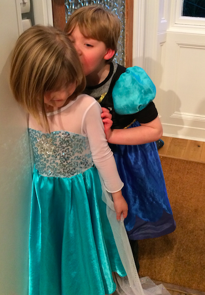 """You be Anna and I'll be Elsa"""
